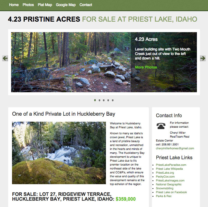 4.23 Acres for sale at Priest Lake, Idaho.