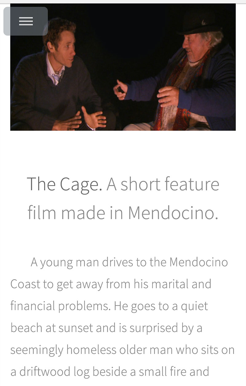 A short film made in Mendocino.