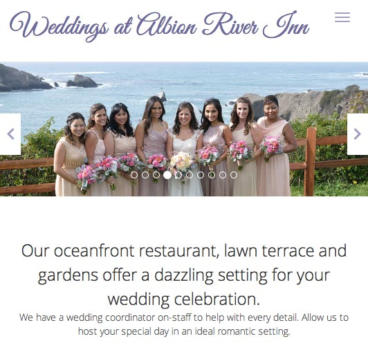 Weddings at Albion River Inn